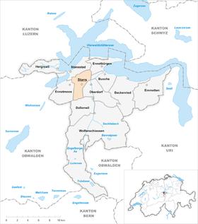 Karte Gemeinde Stans 2007