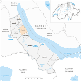 Map of Thalwil