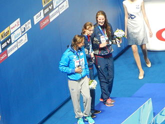 Swimming at the 2015 World Aquatics Championships – Women's 200 metre freestyle - Victory Ceremony