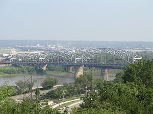 U.S. Route 169 - The Buck O'Neil Bridge carries US 169 over the Missouri River in Kansas City