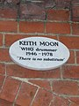 Keith Moon plaque (Golders Green Crematorium).jpg
