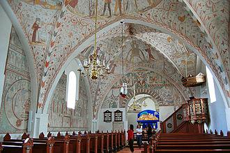 Keldby Church - Frescoes inside Keldby Church