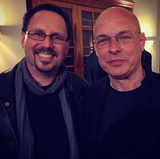 Kevin Keller (composer) - Kevin Keller with Brian Eno, May 2013