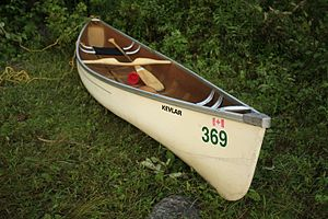 Kevlar - Kevlar is a very popular material for racing canoes.