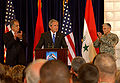 Khalilzad-Bush-Casey in 2006.jpg