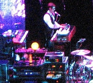 Kristopher Pooley - Pooley performing with The Smashing Pumpkins in 2008.
