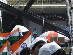 Kiran Bedi - Kiran Bedi at Ramlila maidan for Jan Lokpal Bill.