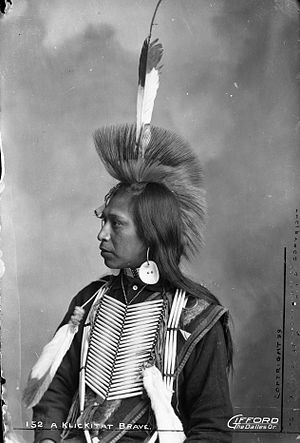 Klickitat people - A Klickitat warrior, 1899