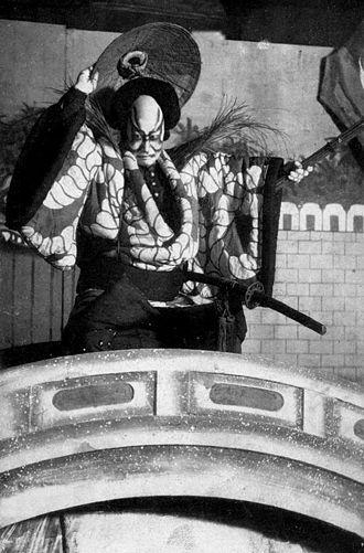 The Battles of Coxinga - Komazō Ichikawa VII (1833–1874) as Watōnai in The Battles of Coxinga, Act III, Scene 2