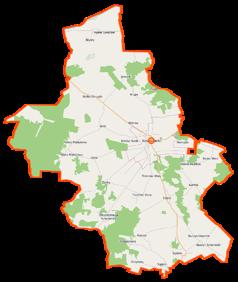 Mapa lokalizacyjna gminy Kosów Lacki
