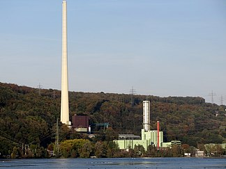 View of the combined cycle plant (right part of the power plant)