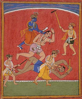 Sapta Puri - Krishna kills his uncle Kansa, the evil king of Mathura, at Mathura.