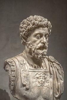 Busto de mármore de Marco Aurélio