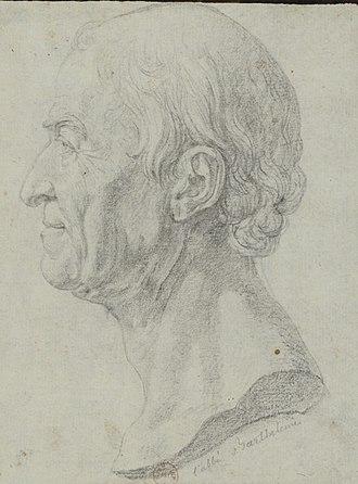 Jean-Jacques Barthélemy - Sketch of Jean-Jacques Barthélemy by Pierre-Simon-Benjamin Duvivier