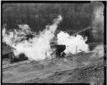 LARRY CAR CHARGING AN OVEN. - Elkins Coal and Coke Company, Bretz Ovens, Bretz, Preston County, WV HAER WVA,39-BRETZ.V,1-10.tif