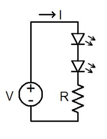 [DIAGRAM_1CA]  LED circuit - Wikipedia | L E D Circuit Diagram |  | Wikipedia