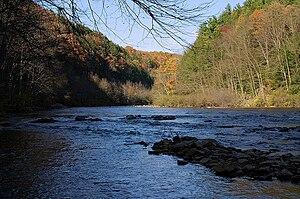 Lehigh Gorge State Park - At Lehigh Gorge State Park, Pennsylvania; Rockport access.