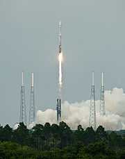 LRO-LCROSS Atlas V-Centaur launching from Launch Complex 41