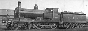 LSWR L11 class - L11 408 with the original watertube firebox, ca. 1907