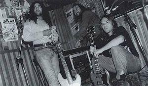 La Renga - La Renga in 1992. L-R: Tete, Tanque and Chizzo.
