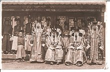 Ladies at court Bogd Khan. Mongolia, 1911-1924.jpg