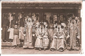 Mongolian nobility - Ladies at court Bogd Khan.