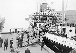 Lady Alexandra - Image: Lady Alexandra (steamship) and Moose convention 1926
