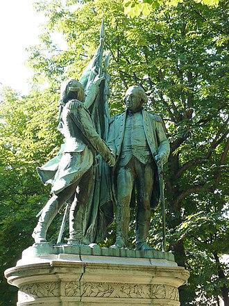 Place des États-Unis - Statue of Lafayette and Washington