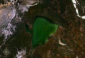 Lake Ihotry - seen from space