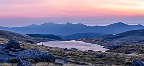 Lake Sylvester during the sunrise, Kahurangi, New Zealand.jpg