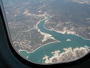 Lake Travis - Aerial shot of Lake Travis.