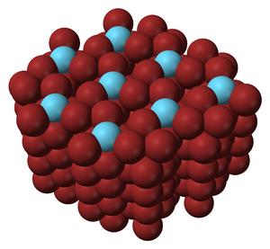 Lanthanum(III) bromide - Image: Lanthanum bromide (space filling) 1