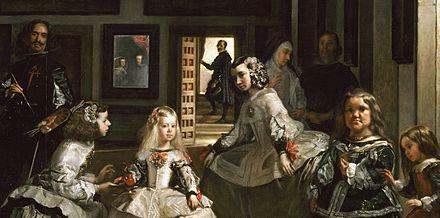 Sc ne d 39 int rieur un peintre peint un groupe de for Velasquez venus au miroir