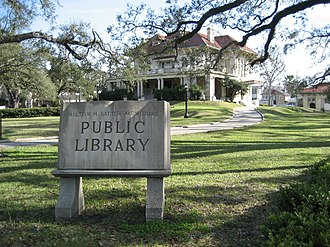 Uptown New Orleans - The Latter Memorial Library, a former private mansion built in 1907, sits on the corner of St. Charles Avenue and Soniat St.
