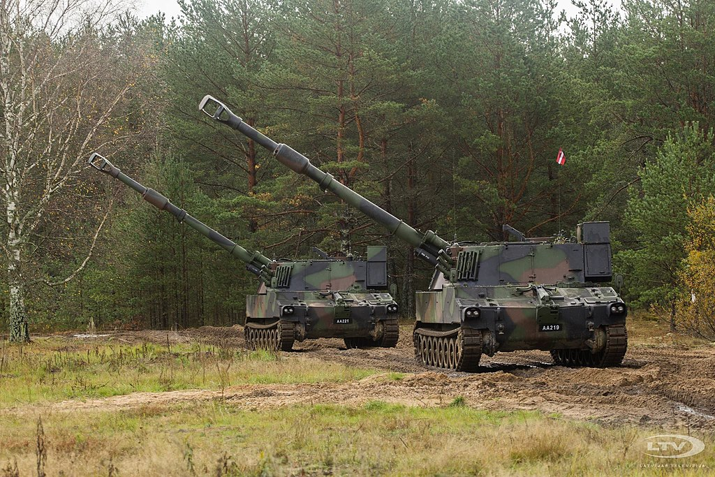 Latvian Army M109 A5o Howitzer