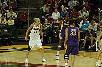 Lauren Jackson - Lauren Jackson playing for Seattle