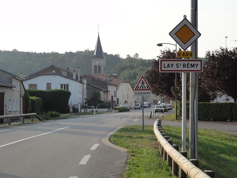 Lay-Saint-Remy (Meurthe-et-M.) city limit sign