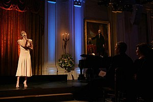 LeAnn Rimes - Rimes performing in the East Room of the White House before President George W. Bush and Laura Bush, 2006