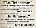 Le Defenseur ad Holyoke Mass 1885.jpg