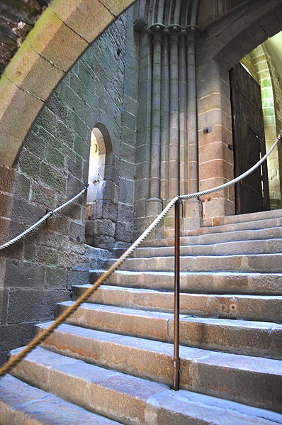 Le Mont Saint Michel - vstupní schodiště kláštera