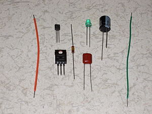 Lead (electronics) - Several kinds of lead wires. A lead wire is a metal wire connected from the electric pole of an electronics part or an electronic component. The lead wire is a coated copper wire, a tinned copper wire or another electrically conductive wire used to connect two locations electrically.