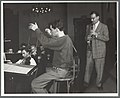 Leonard Bernstein and Benny Goodman in rehearsal.jpg