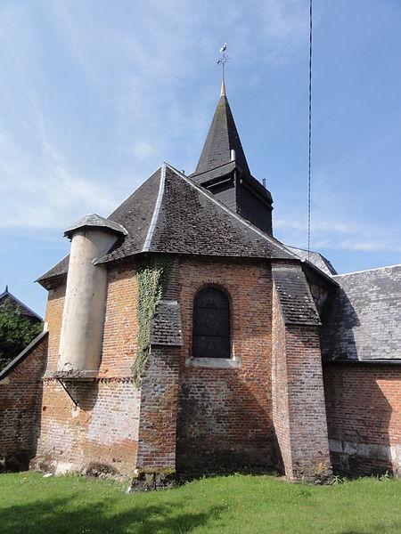 Les Autels (Aisne) église, chevet