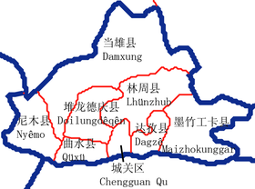 Counties of the Lhasa Prefecture