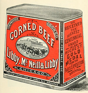 Libby's - Image: Libby Mc Neill & Libby Corned Beef 1898