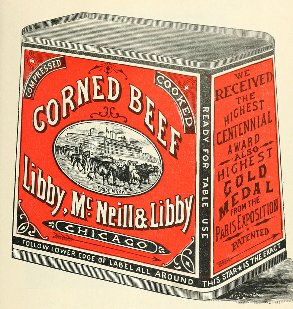 Libby McNeill & Libby Corned Beef 1898
