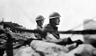 Bernard Freyberg, 1st Baron Freyberg - Freyberg (right) during the Battle of Crete, May 1941.