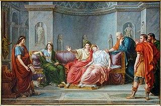 Virgile lisant l'Enéïde devant Auguste et Livie