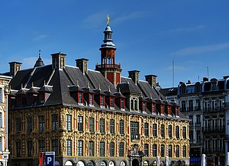 Lille - The 'Vieille Bourse' on the 'Grand Place'
