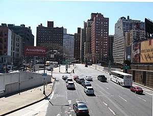 Lincoln Tunnel Expressway - Dyer Avenue at 36th Street crossing over the Lincoln Tunnel Expressway